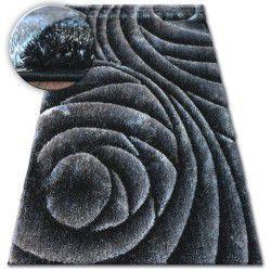 Carpet Shaggy SPACE 3D B217 dark grey black