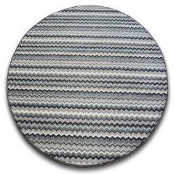 Carpet, round ZIGZAG grey